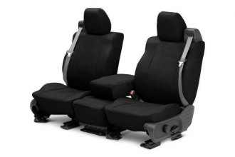 CalTrend® CV464-01DD - Front Row DuraPlus Black with Black Custom Seat Covers