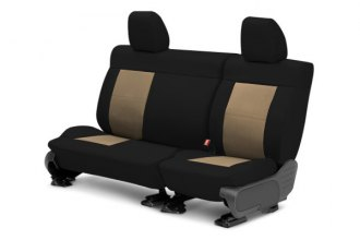 CalTrend® TY267-06DD - Center Row DuraPlus Black with Beige Custom Seat Covers