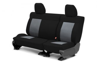 CalTrend® DG320-03DD - Center Row DuraPlus Black with Charcoal Custom Seat Covers