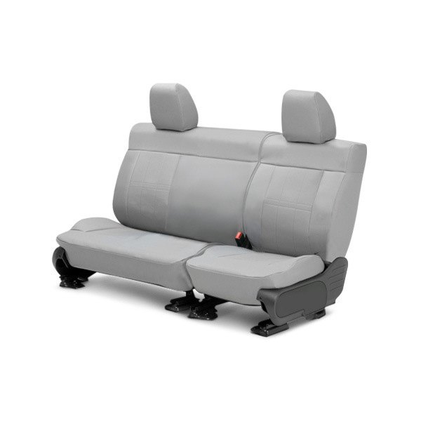 Image may not reflect your exact vehicle! CalTrend® - Center DuraPlus Light Gray Custom Seat Covers