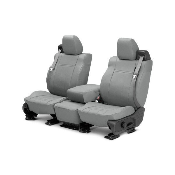 CalTrend® - 1st Row DuraPlus Light Gray Custom Seat Covers