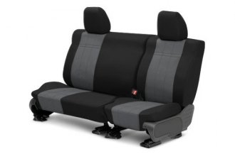 CalTrend® HD178-03DD - Rear Row DuraPlus Black with Charcoal Custom Seat Covers