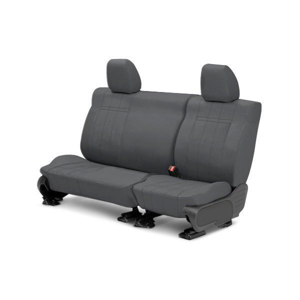 Image may not reflect your exact vehicle! CalTrend® - 2nd Row DuraPlus Charcoal Custom Seat Covers