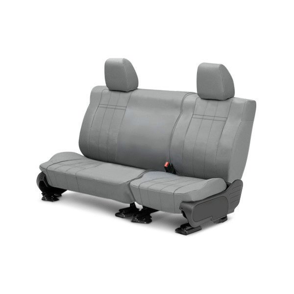 Image may not reflect your exact vehicle! CalTrend® - 2nd Row DuraPlus Light Gray Custom Seat Covers