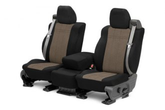 CalTrend® HY120-06HB - Front Row EuroSport Black with Beige Custom Seat Covers