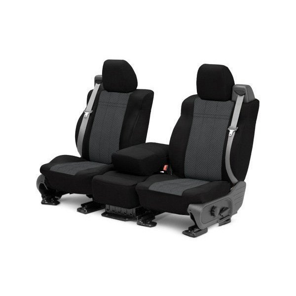 CalTrend® - 1st Row EuroSport Black & Charcoal Custom Seat Covers