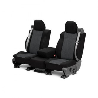 CalTrend� - EuroSport Black with Charcoal Custom Seat Covers