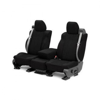 Image may not reflect your exact vehicle! CalTrend® - 1 Row EuroSport Black Custom Seat Covers