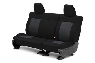CalTrend® FD245-03HB - Center Row EuroSport Black with Charcoal Custom Seat Covers