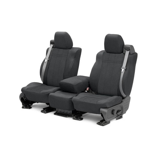 Image may not reflect your exact vehicle! CalTrend® - 1st Row EuroSport Charcoal Custom Seat Covers