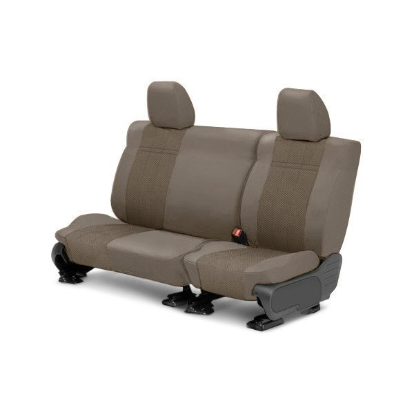Image may not reflect your exact vehicle! CalTrend® - Rear EuroSport Beige Custom Seat Covers