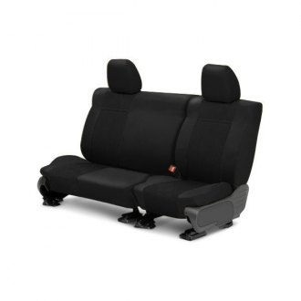 Image may not reflect your exact vehicle! CalTrend® - 2 Row EuroSport Black Custom Seat Covers