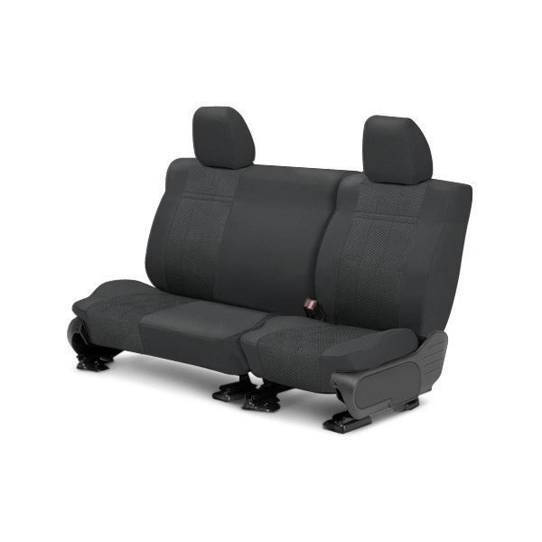 Image may not reflect your exact vehicle! CalTrend® - Rear EuroSport Charcoal Custom Seat Covers