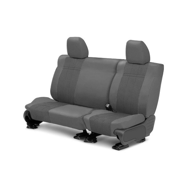 Image may not reflect your exact vehicle! CalTrend® - 2nd Row EuroSport Light Gray Custom Seat Covers