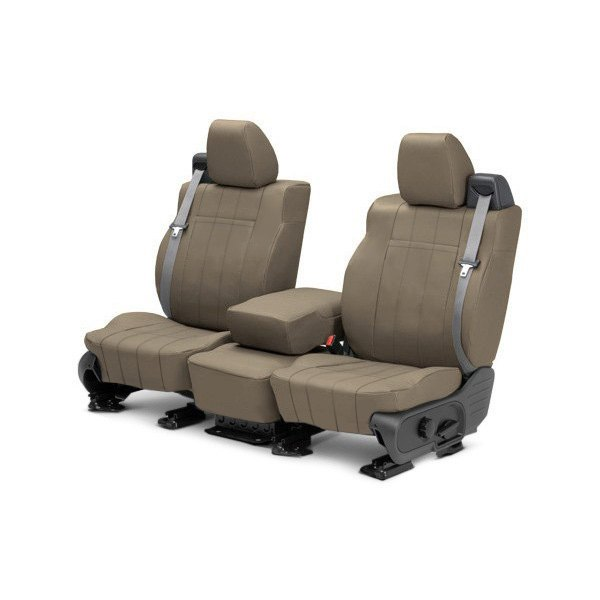 Image may not reflect your exact vehicle! CalTrend® - Front ICBINL Beige Custom Seat Covers