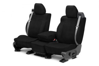 CalTrend® FD377-01LX - Front Row I Can't Believe It's Not Leather Black Custom Seat Covers
