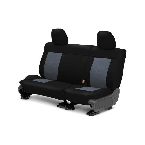 Image may not reflect your exact vehicle! CalTrend® - Center ICBINL Black with Charcoal Custom Seat Covers
