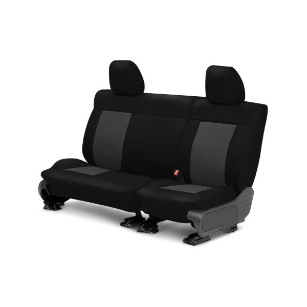 Image may not reflect your exact vehicle! CalTrend® - Center ICBINL Black with Graphite Custom Seat Covers