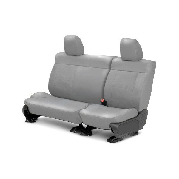 Image may not reflect your exact vehicle! CalTrend® - Center ICBINL Light Gray Custom Seat Covers