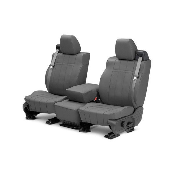 Image may not reflect your exact vehicle! CalTrend® - Front ICBINL Charcoal Custom Seat Covers