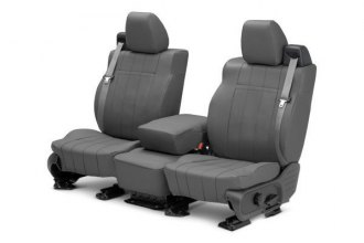 CalTrend® FD263-03LX - Front Row I Can't Believe It's Not Leather Charcoal Custom Seat Covers