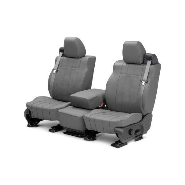 Image may not reflect your exact vehicle! CalTrend® - Front ICBINL Light Gray Custom Seat Covers