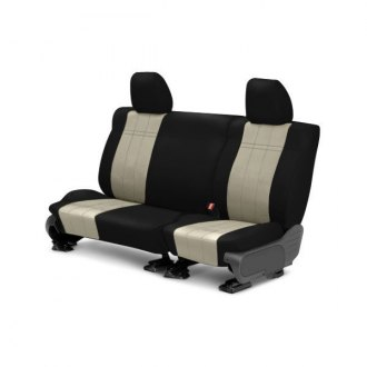 CalTrend� - Rear Row ICBINL Black with Sandstone Custom Seat Covers