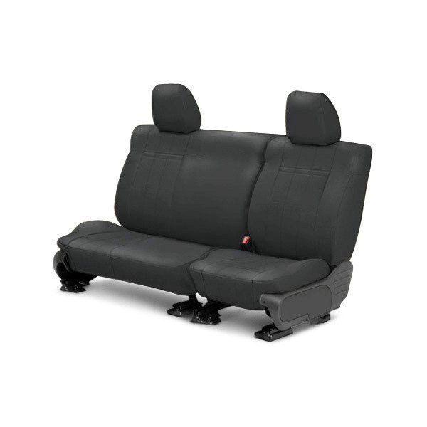 Image may not reflect your exact vehicle! CalTrend® - Rear ICBINL Graphite Custom Seat Covers