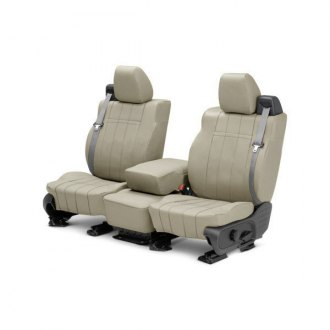 Image may not reflect your exact vehicle! CalTrend® - Front ICBINL Sandstone Custom Seat Covers