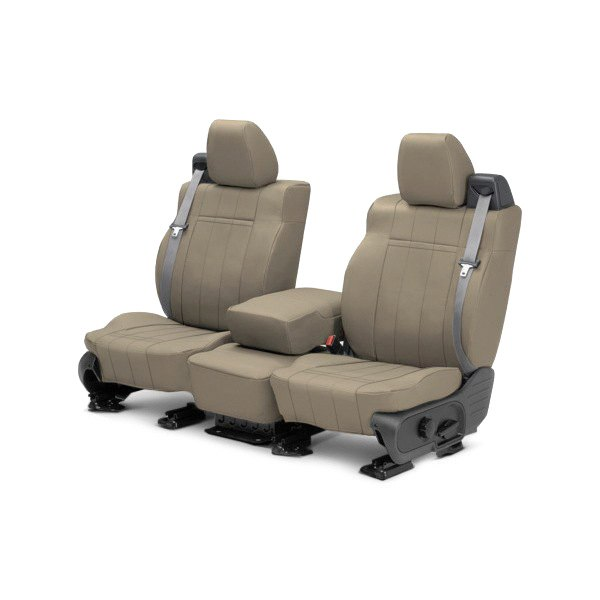 CalTrend® - 1st Row Leather Beige Custom Seat Covers