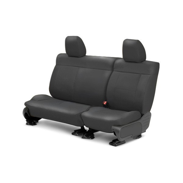 Image may not reflect your exact vehicle! CalTrend® - Center Leather Charcoal Custom Seat Covers
