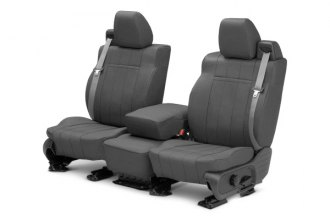 Image may not reflect your exact vehicle! CalTrend® - 1st Row Leather Charcoal Custom Seat Covers