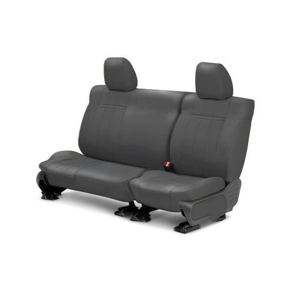 Image may not reflect your exact vehicle! CalTrend® - 2nd Row Leather Charcoal Custom Seat Covers