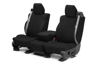 CalTrend® CV406-01SB - Front Row MicroSuede Black with Black Custom Seat Covers