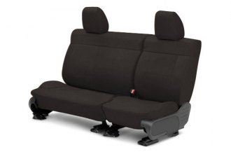 Image may not reflect your exact vehicle! CalTrend® - Center MicroSuede Charcoal Custom Seat Covers