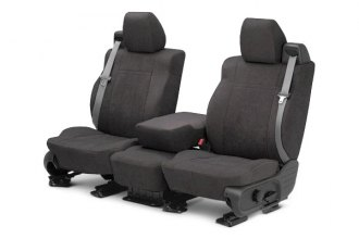 CalTrend® TY308-03SA - Front Row MicroSuede Charcoal Custom Seat Covers