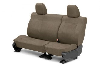 Image may not reflect your exact vehicle! CalTrend® - 2nd Row MicroSuede Beige Custom Seat Covers