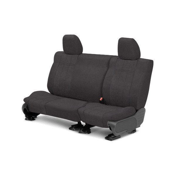 Image may not reflect your exact vehicle! CalTrend® - 3rd Row MicroSuede Charcoal Custom Seat Covers