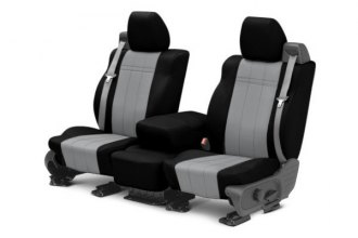 CalTrend® TY430-08PP - Front Row NeoPrene Black with Light Gray Custom Seat Covers