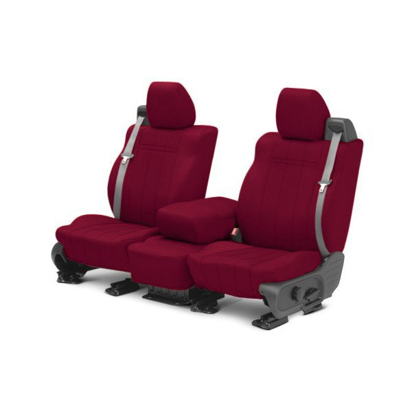 CalTrend® - 1st Row NeoPrene Red Custom Seat Covers