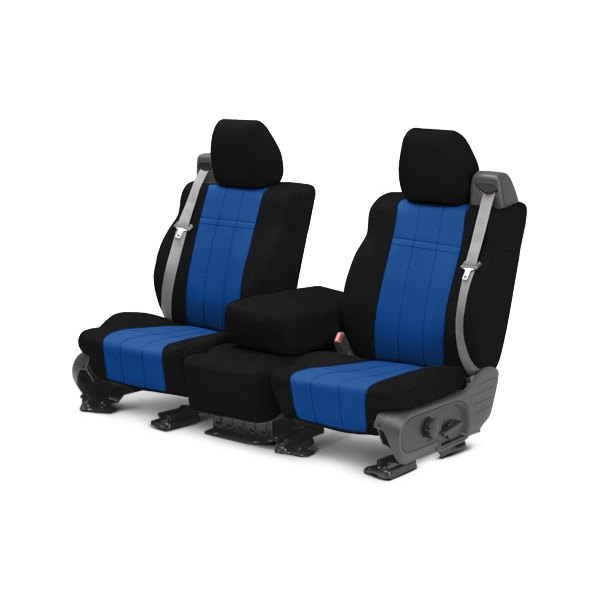 CalTrend® - 1st Row NeoSupreme Black & Blue Custom Seat Covers