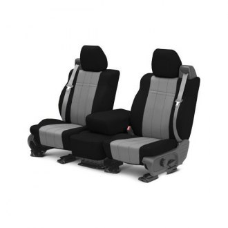 CalTrend� - NeoSupreme Black with Gray Custom Seat Covers