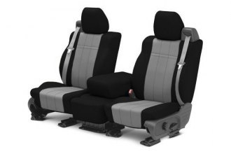 CalTrend® - 1st Row NeoSupreme Black & Light Gray Custom Seat Covers