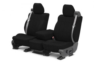 CalTrend® SU106-01NN - Front Row NeoSupreme Black with Black Custom Seat Covers