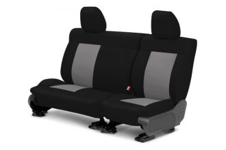 CalTrend® HD176-08NN - Center Row NeoSupreme Black with Light Gray Custom Seat Covers