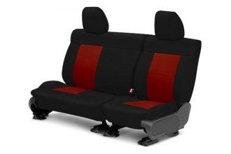 CalTrend® MA129-02NN - Center Row NeoSupreme Black with Red Custom Seat Covers