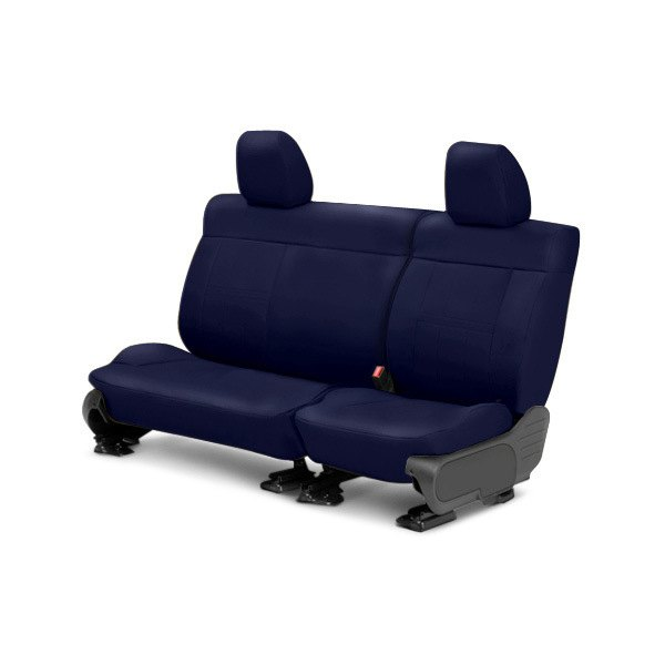 Image may not reflect your exact vehicle! CalTrend® - Center NeoSupreme Blue Custom Seat Covers