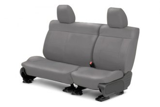 Image may not reflect your exact vehicle! CalTrend® - Center NeoSupreme Light Gray Custom Seat Covers