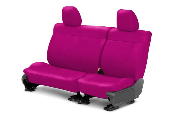 Image may not reflect your exact vehicle! CalTrend® - Center NeoSupreme Pink Custom Seat Covers