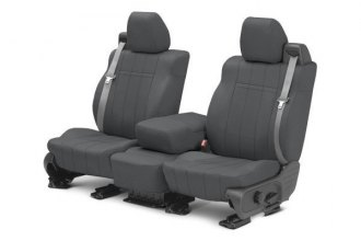Image may not reflect your exact vehicle! CalTrend® - Front NeoSupreme Charcoal Custom Seat Covers